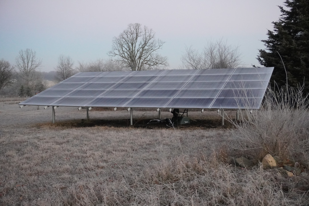 Frosty Solar Panels