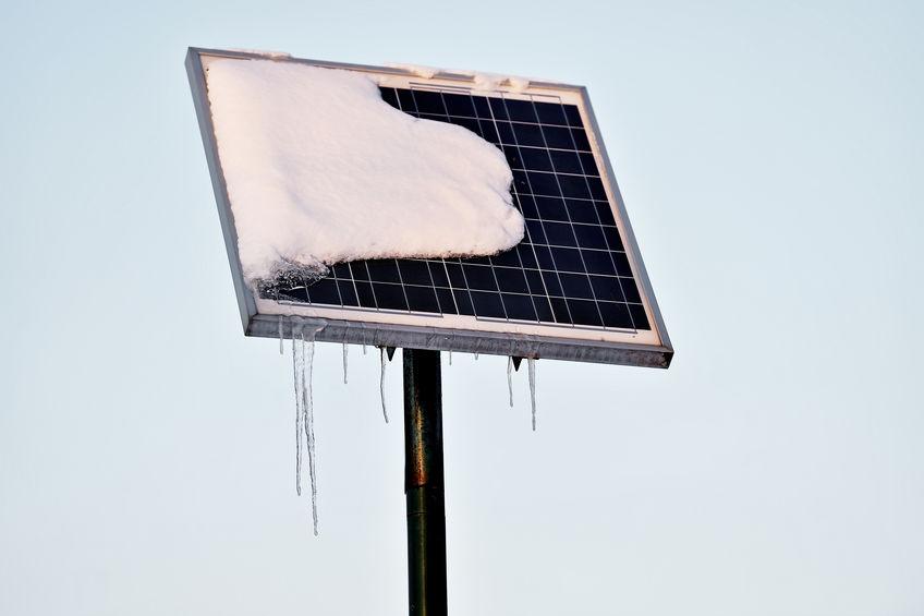 do solar panels freeze